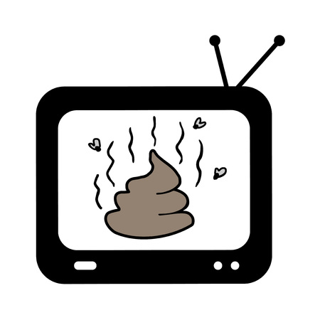 shit on television Illustration