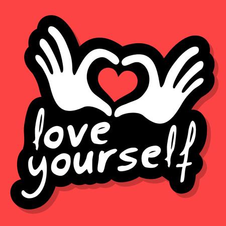love yourself message concept vector illustration Illustration