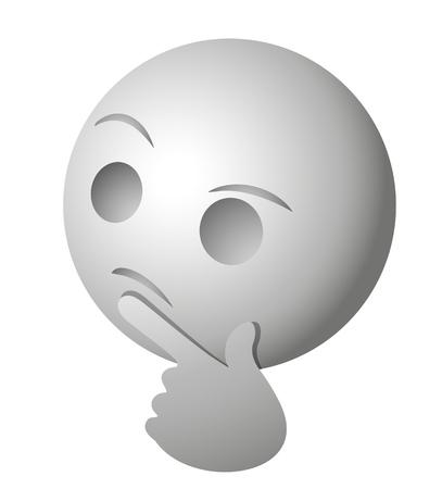 Face thinking illustration