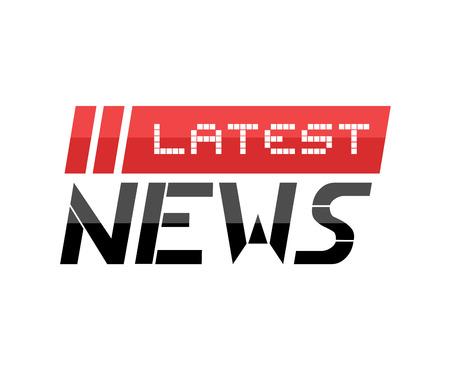 Flat news symbol Illustration