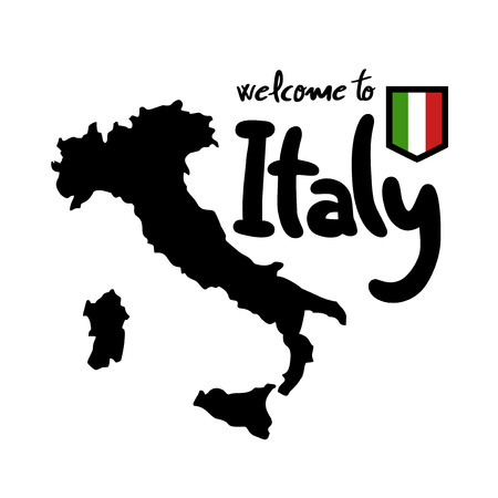 Italy map symbol Banque d'images - 102260343