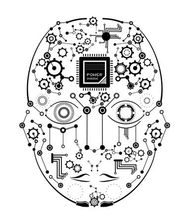 tech human face Vecteurs