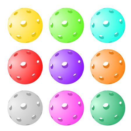 Set van negen augurkenballen
