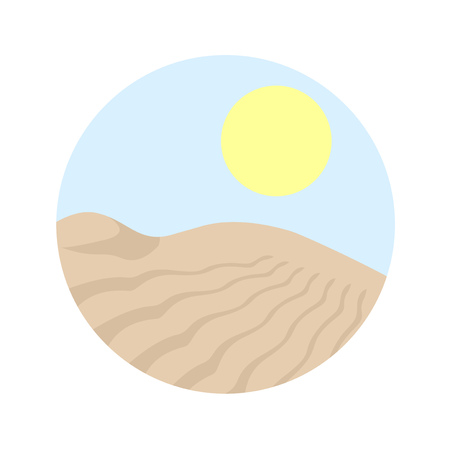 desert circle illustration