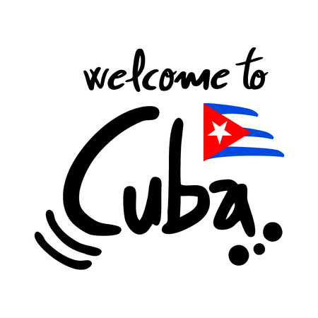 Welcome to Cuba symbol Illustration
