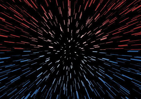 red and blue motion space stars Illustration