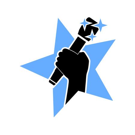 music star icon 矢量图像