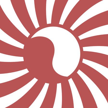 ying yang symbol Illustration