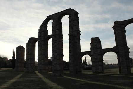 vintage aqueduct of Merida Imagens