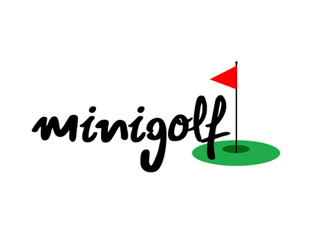 Minigolf icon Stock Illustratie