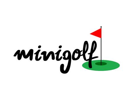 Minigolf icon Illustration