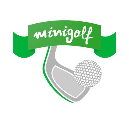 Minigolf sport icon Illustration