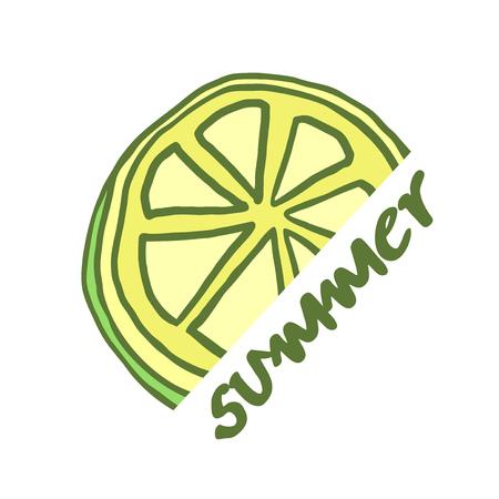 summer lemon illustration Foto de archivo - 102393597