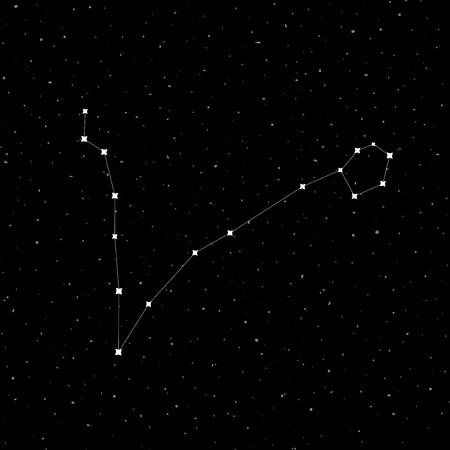 Diseño de la constelación de Piscis Ilustración de vector