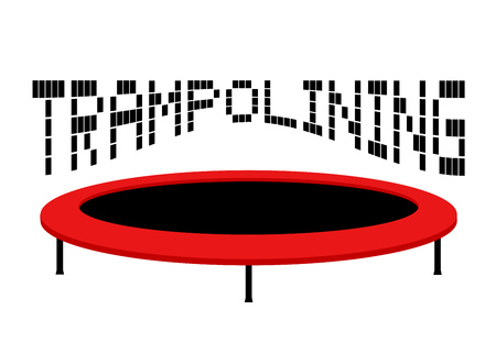 illustration of trampoline