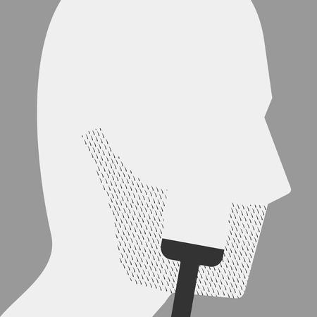 Shaving beard illustration