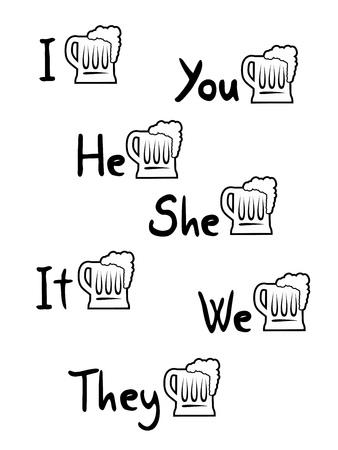 nice beer symbols Illustration