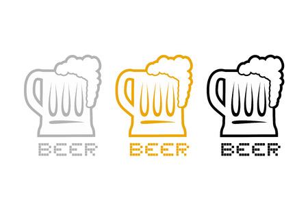 nice beer symbol Illustration