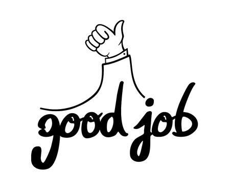 hand good job message