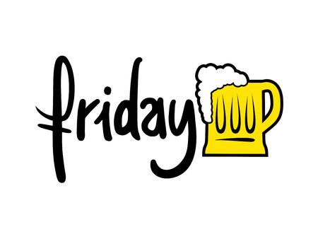 Friday beer symbol