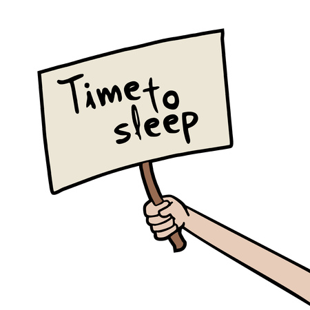 time to sleep message