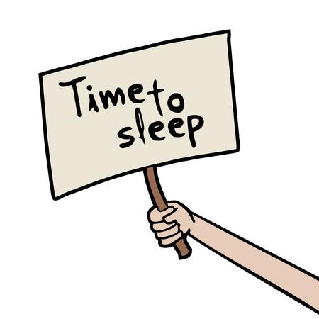 time to sleep message