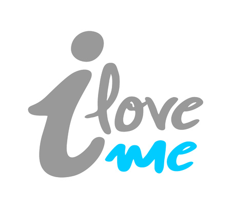I love me message Illustration
