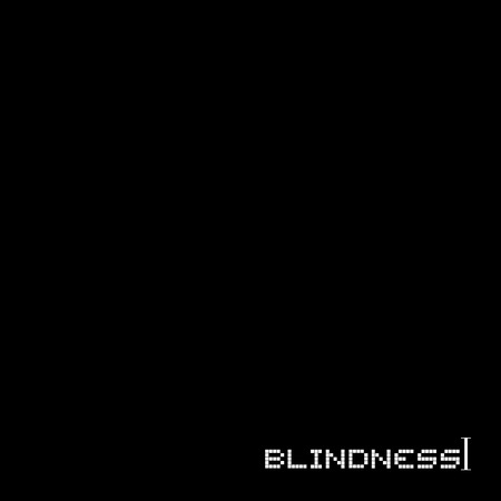 black screen and blindness message Stock Illustratie