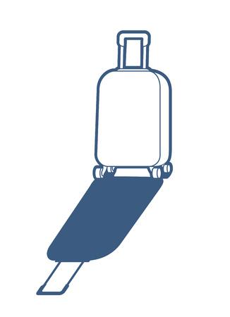White suitcase illustration