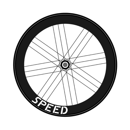 Road bike wheel illustration Banque d'images - 103364084