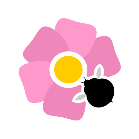 Pollination flower icon Illustration