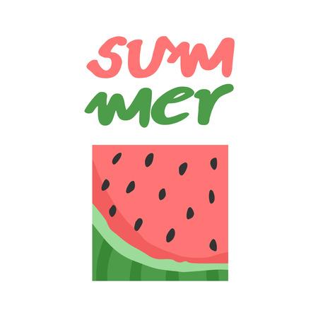 watermelon summer symbol 일러스트