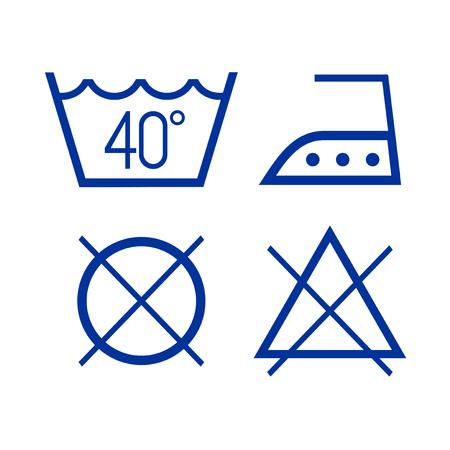 kleren wassen pictogrammen