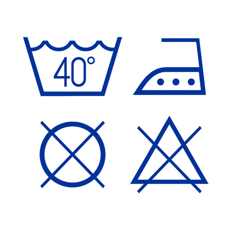 clothes wash icons