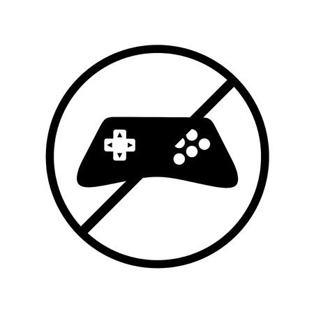 no videogame symbol