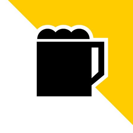 imaginative flat beer icon