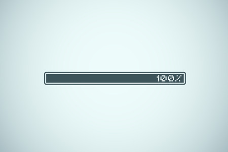 Loading bar illustration