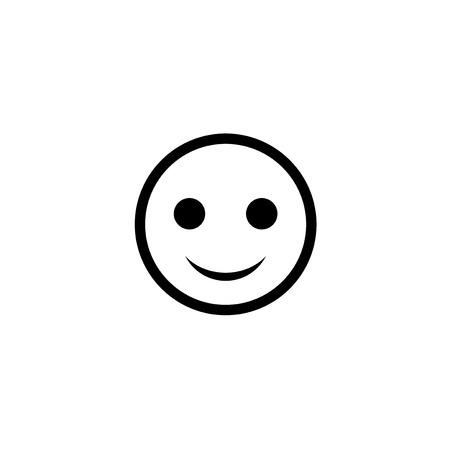 flat happy icon Illustration