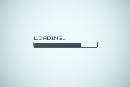 Loading bar illustration 스톡 콘텐츠 - 115098145