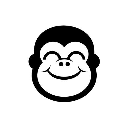 smile gorilla face
