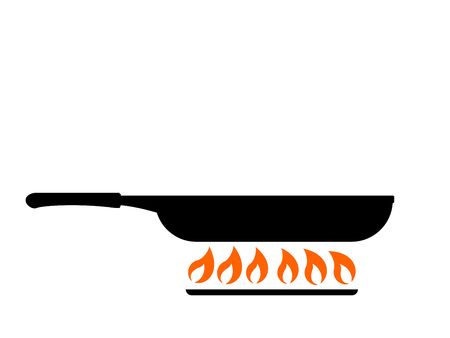 Frying in pan icon