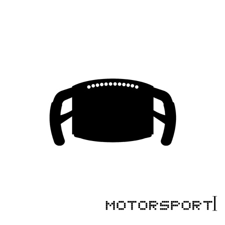 formula steering wheel illustration