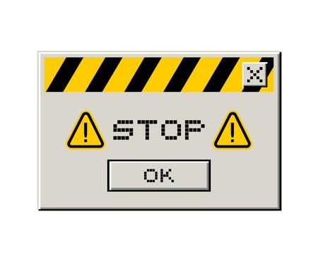 caution advise design Illustration