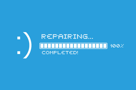 repair completed message