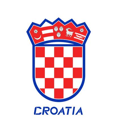 Creative Croatia symbol Stock Vector - 115031233
