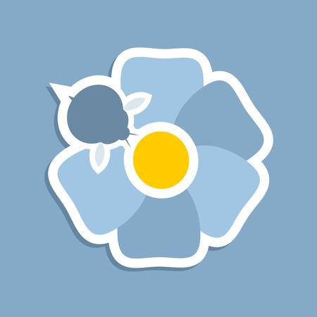 Pollination flower icon Ilustração