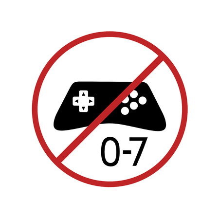 no videogames for child under seven years