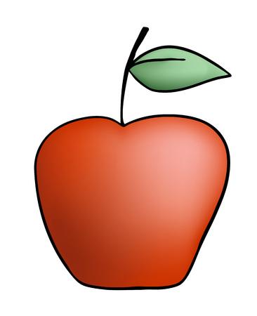 red apple draw Ilustração