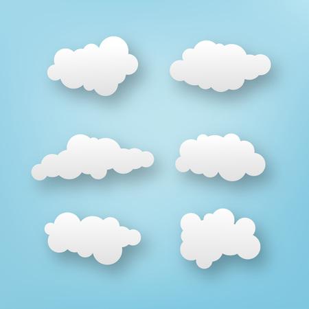 six clouds illustration