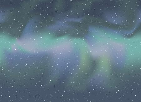 Nice northern lights in sky Vektorové ilustrace